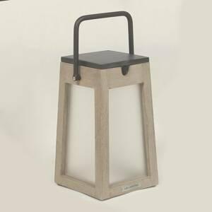 LES JARDINS Solárna LED lucerna Tecka prenosná Duratek 25cm