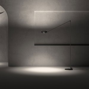 LUMINA Lumina Elle stojaca LED lampa 200cm 3000K čierna