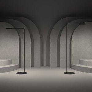 LUMINA Lumina Flo stojaca LED lampa, 3000K čierna