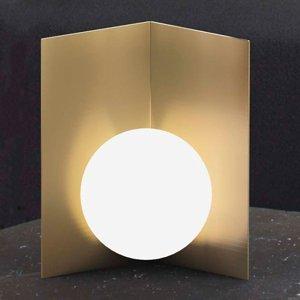 Marchetti Stolná lampa Balance stojaca zlatá satinovaná