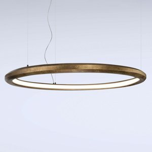 Marchetti Závesné LED svietidlo Materica vnútri 120cm mosadz