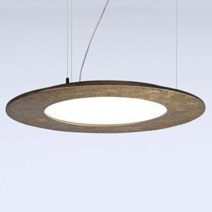 Marchetti Závesné LED svietidlo Materica disk mosadz