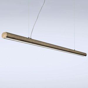 Marchetti Závesné LED sveetlo Materica trám 200cm mosadz