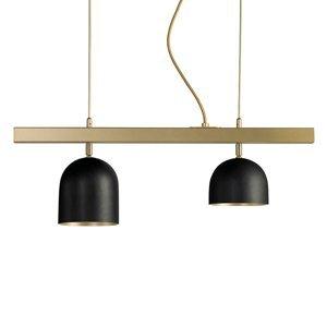 Marchetti Závesné LED svietidlo Dome dvoj-plameňové čierne