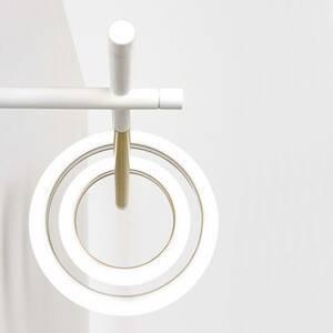 Marchetti Nástenné LED svetlo Ulaop, 2 kruhy, vpravo, biele