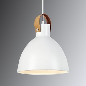 Markslöjd Závesná lampa Eagle, kovové tienidlo Ø 22cm biela