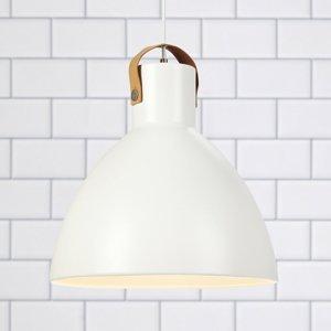 Markslöjd Závesná lampa Eagle, kovové tienidlo Ø 35 cm biela