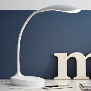 Markslöjd Stolná LED lampa Swan, biela