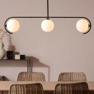 Markslöjd Závesná lampa Pals tri biele sklenené tienidlá