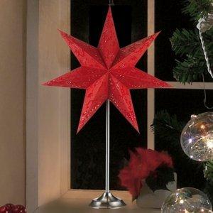 Markslöjd Stolná lampa Hviezda Aratorp červená 45 x 64cm