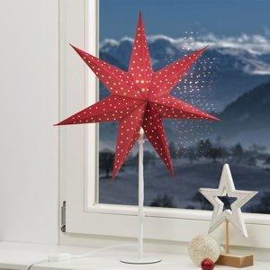 Markslöjd Stojaca hviezda Clara hviezda červená podstavec b