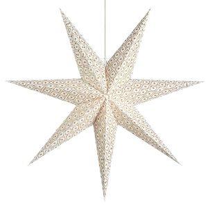 Markslöjd Dekoračná hviezda Baroque na zavesenie Ø45cm biela