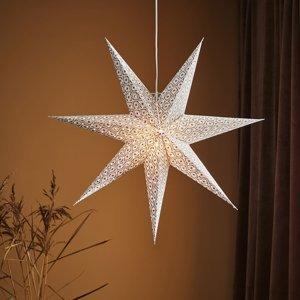 Markslöjd Dekoračná hviezda Baroque na zavesenie Ø75cm biela