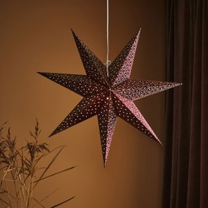 Markslöjd Dekoračná hviezda Baroque zavesenie Ø 75cm bordová