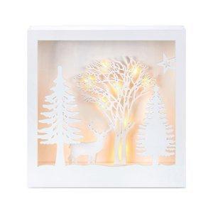 Markslöjd 3D obraz Folkabo z dreva osvetlený LED