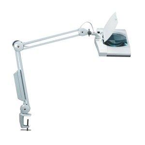 Jakob Maul Praktická lampa s lupou VITRUM, biela