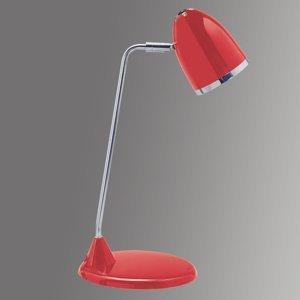 Jakob Maul Veselá lampa na písací stôl Starlet – červená