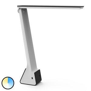 Jakob Maul LED lampa na písací stôl MAULseven s batériou sivá
