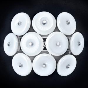 Mettallux Biele dizajnérske nástenné svietidlo Star zo skla
