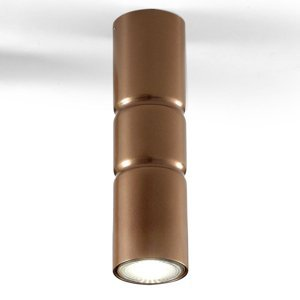 Mettallux Stropné nadstavbové svietidlo Turbo stabilné bronz