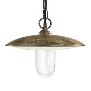 Moretti Závesná lampa Golfo mosadz starožitná/číra