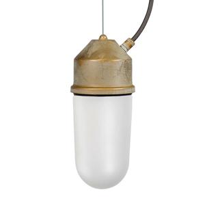 Moretti Závesná lampa 1951N starožitná mosadz rovné opál