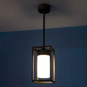 Moretti Závesná lampa Cubic³ 3368 mosadz/opál