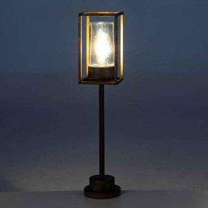 Moretti Chodníkové svietidlo Cubic³ 3370 mosadz/číra