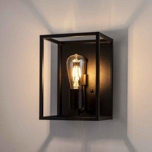 Moretti Nástenné svietidlo Cubic³ 3382 čierne, šírka 20cm