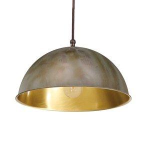 Moretti Závesná lampa Circle zlatá/starožitná mosadz Ø20cm