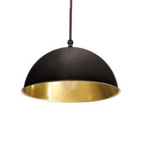 Moretti Závesná lampa Circle zlatá/čiernená mosadz Ø20cm