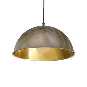 Moretti Závesná lampa Circle zlatá/starožitná mosadz Ø25cm