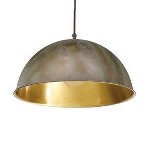 Moretti Závesná lampa Circle zlatá/starožitná mosadz Ø30cm