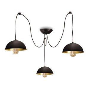 Moretti Závesná lampa Circle 3248.3L, 3-pl. čiernená