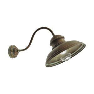 Moretti Vonkajšie nástenné svietidlo Mill 1591 mosadz/číra