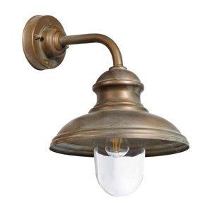 Moretti Vonkajšie nástenné svietidlo Mill 1595 mosadz/číra