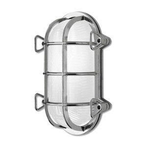 Moretti Nástenné svietidlo Tortuga 200.21 ovál, nikel/opal