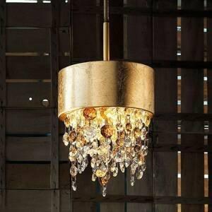 Masiero Závesné LED svietidlo Olà S2 15, zlato/jantár