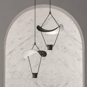 Masiero Závesné LED svietidlo Vollee S1 P 44cm up, čierne