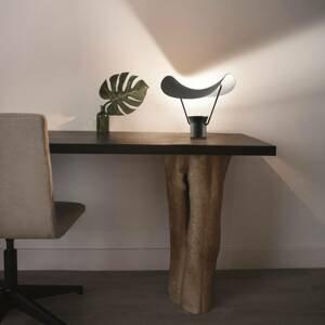 Masiero Stolná LED lampa Vollee, stmievateľná, čierna