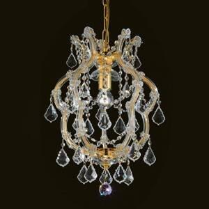 Masiero Lesklá krištáľová závesná lampa Deira