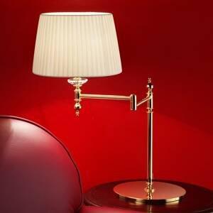 Masiero Pozlátená mosadzná stolná lampa Grace