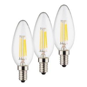Müller-Licht Sviečková LED žiarovka E14 4W 2700K filament 3 ks