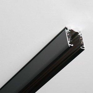 GLOBAL 3-fázová koľajnica Noa hliník 200cm, čierna
