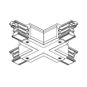 GLOBAL X-konektor 3-fázová koľajnica Noa, biely