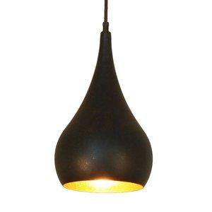 Menzel Menzel Solo závesná lampa Cibuľa hnedo-čierna 16cm