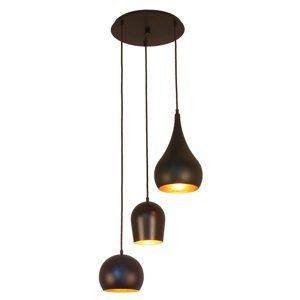 Menzel Menzel Solo závesná lampa, 3-plameňová okrúhla