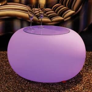 Moree Stôl BUBBLE Indoor LED RGB + sklenená doska