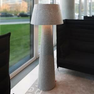 Moree Stojaca LED lampa Alice XL zo sivej plsti