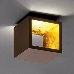 ICONE ICONE Cubò stropné LED svietidlo 10W hnedé/zlaté
